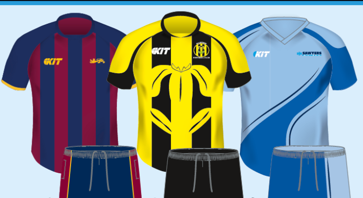Sublimated Kits offer Autumn 2015